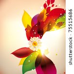 abstract colorful flovers... | Shutterstock .eps vector #75515686
