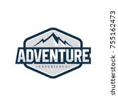 outdoor and adventure logo... | Shutterstock .eps vector #755162473