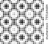 grunge halftone black and white ... | Shutterstock . vector #755164684
