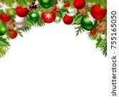 vector christmas background... | Shutterstock .eps vector #755165050