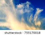the movement of clouds in the... | Shutterstock . vector #755170018