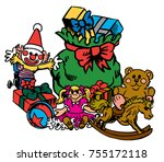 the north pole's most popular ... | Shutterstock .eps vector #755172118