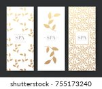 branding packaging leaf nature... | Shutterstock .eps vector #755173240