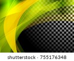 colorful abstract waves on... | Shutterstock .eps vector #755176348