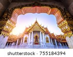 the marble temple  wat... | Shutterstock . vector #755184394