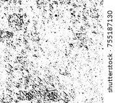 vector black and white grunge... | Shutterstock .eps vector #755187130