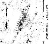 vector black and white grunge... | Shutterstock .eps vector #755187196