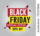 black friday sale sticker or... | Shutterstock .eps vector #755190886