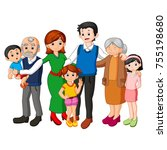 big family together | Shutterstock . vector #755198680