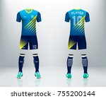 3d realistic of front and back... | Shutterstock .eps vector #755200144