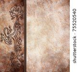 vintage background with...   Shutterstock . vector #75520540