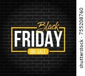 abstract vector black friday...   Shutterstock .eps vector #755208760