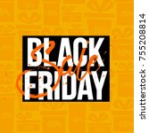 abstract vector black friday... | Shutterstock .eps vector #755208814