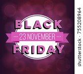 abstract vector black friday... | Shutterstock .eps vector #755208964
