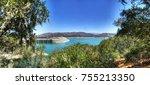 the bradbury dam at lake... | Shutterstock . vector #755213350