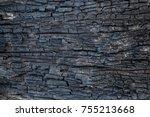 burnt wood texture | Shutterstock . vector #755213668