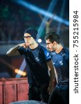 Small photo of SAINT PETERSBURG, RUSSIA - OCTOBER 29 2017: EPICENTER Counter Strike: Global Offensive cyber sport event. Team SK Gaming player from Brazil Fernando fer Alvarenga on a stage before grand final match.