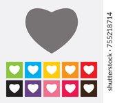 heart icon   vector | Shutterstock .eps vector #755218714