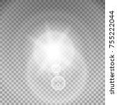 sunlight special lens flare... | Shutterstock . vector #755222044