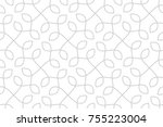 seamless linear pattern with... | Shutterstock .eps vector #755223004
