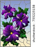 illustration in stained glass... | Shutterstock .eps vector #755225158