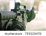 soft focus of airsoft assault... | Shutterstock . vector #755225470