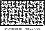 labyrinth of low complexity.... | Shutterstock .eps vector #755227708