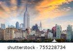 amazing view of manhattan... | Shutterstock . vector #755228734