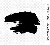 black brush stroke and texture. ... | Shutterstock .eps vector #755230630
