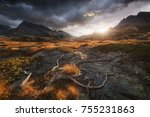 vanoise national park at... | Shutterstock . vector #755231863