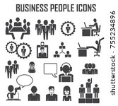 business people icons | Shutterstock .eps vector #755234896