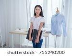 fashion designer working in... | Shutterstock . vector #755240200