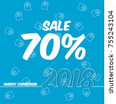 sale 70  off for new year  | Shutterstock .eps vector #755243104
