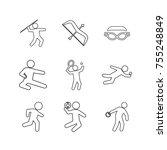 sport vector collection set | Shutterstock .eps vector #755248849