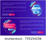best winter sale  web pages...   Shutterstock .eps vector #755254258