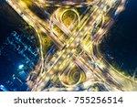 Night Traffic Light Movement O...