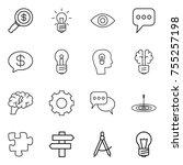 thin line icon set   dollar... | Shutterstock .eps vector #755257198