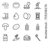 thin line icon set   factory... | Shutterstock .eps vector #755258170