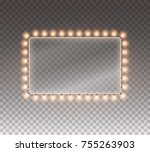 hollywood lights. illuminated... | Shutterstock .eps vector #755263903