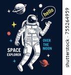 vector illustration of... | Shutterstock .eps vector #755264959