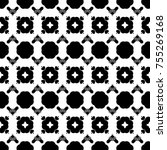 black and white simple pattern | Shutterstock . vector #755269168
