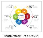 modern infographics process ...   Shutterstock .eps vector #755276914