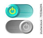 button for web. turn on  turn... | Shutterstock .eps vector #755286094