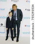 jacob tremblay and owen wilson... | Shutterstock . vector #755293534