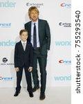jacob tremblay and owen wilson... | Shutterstock . vector #755293540
