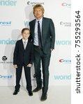 jacob tremblay and owen wilson... | Shutterstock . vector #755293564