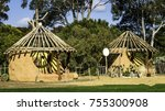 Small photo of Mock-up of a traditional hut of Native Aboriginal Australian people