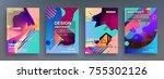 artistic covers design.... | Shutterstock .eps vector #755302126