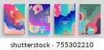 artistic covers design.... | Shutterstock .eps vector #755302210