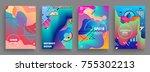 artistic covers design.... | Shutterstock .eps vector #755302213